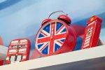Zegar z flagą brytyjską